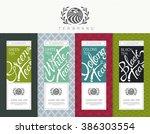 vector set of templates... | Shutterstock .eps vector #386303554