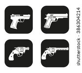 gun icon in four variations | Shutterstock .eps vector #386304214