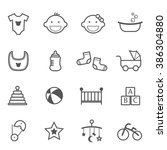 baby icons for designs and... | Shutterstock .eps vector #386304880