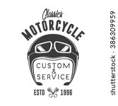 motorcycle badge | Shutterstock .eps vector #386309959