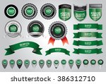 made in saudi arabia seal ... | Shutterstock .eps vector #386312710