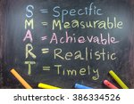 blackboard letter of smart word ... | Shutterstock . vector #386334526