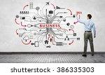 businessman presenting his ideas | Shutterstock . vector #386335303