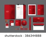 red corporate identity template ... | Shutterstock .eps vector #386344888