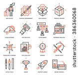 thin line icons set. business... | Shutterstock .eps vector #386360068