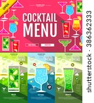 flat style cocktail menu...