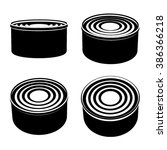 vector food cans black symbol | Shutterstock .eps vector #386366218