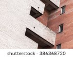 abstract urban architecture... | Shutterstock . vector #386368720