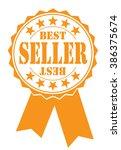 best seller icon on white ... | Shutterstock .eps vector #386375674