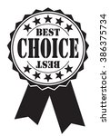 best choice icon on white ... | Shutterstock .eps vector #386375734