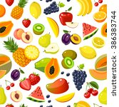 seamless pattern with colorful... | Shutterstock .eps vector #386383744