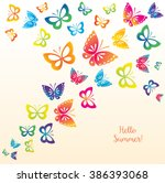 background with colorful... | Shutterstock .eps vector #386393068