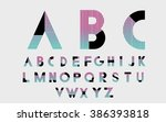 black alphabetic fonts and... | Shutterstock .eps vector #386393818