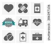 medical icons set | Shutterstock .eps vector #386397106