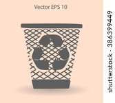 bin vector icon | Shutterstock .eps vector #386399449
