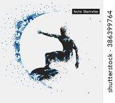 surfing. vector eps10... | Shutterstock .eps vector #386399764