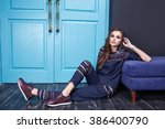 collection fashion style... | Shutterstock . vector #386400790