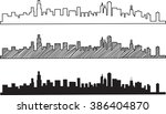 free hand sketch of chicago... | Shutterstock .eps vector #386404870