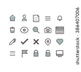 web icons concept. | Shutterstock .eps vector #386407006