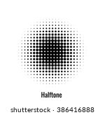 abstract circle halftone   Shutterstock .eps vector #386416888