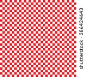 modern checkered pattern red... | Shutterstock .eps vector #386424643
