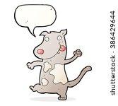 cartoon happy dog with speech... | Shutterstock .eps vector #386429644