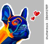 dog vector breed cute pet...   Shutterstock .eps vector #386441989