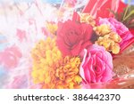 flower bouquet background | Shutterstock . vector #386442370