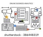 online business analytics in... | Shutterstock .eps vector #386448319