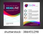 abstract vector modern flyers... | Shutterstock .eps vector #386451298