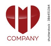 heart and m company linked... | Shutterstock .eps vector #386451364