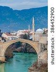 City Of Mostar On The Neretva...