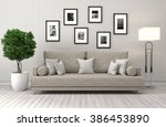 interior with sofa. 3d... | Shutterstock . vector #386453890