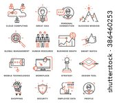 thin line icons set. business... | Shutterstock .eps vector #386460253