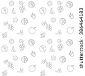 fruit pattern | Shutterstock . vector #386464183