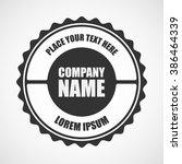 retro vintage logotype. vector... | Shutterstock .eps vector #386464339