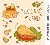 mexican food logo design... | Shutterstock .eps vector #386465710