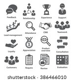 business management icons. pack ... | Shutterstock .eps vector #386466010