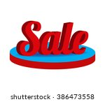 isometric 3d word big sale... | Shutterstock .eps vector #386473558