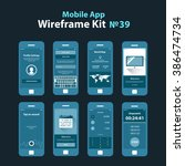mobile wireframe app ui kit 39. ...