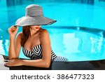 beautiful sexy girl with... | Shutterstock . vector #386477323