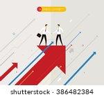 businessmen shaking hands | Shutterstock .eps vector #386482384