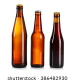 glass bottles of different beer ... | Shutterstock . vector #386482930