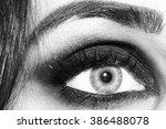Closeup Of Female Eye With Dar...