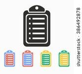 checklist  vector icon.... | Shutterstock .eps vector #386492878
