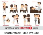 hepatitis infection.cartoon... | Shutterstock .eps vector #386495230