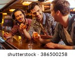 three young men in casual... | Shutterstock . vector #386500258