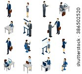 business people isometric set | Shutterstock . vector #386502520
