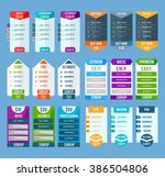 pricing table templates set | Shutterstock . vector #386504806