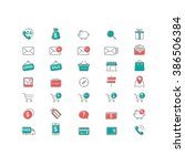 vector set of ui icons for web...